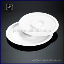 Двойная круглая пластина для посуды из керамики