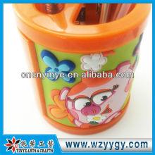 flower shape vinyl pvc cute pen holder for kids souvenir