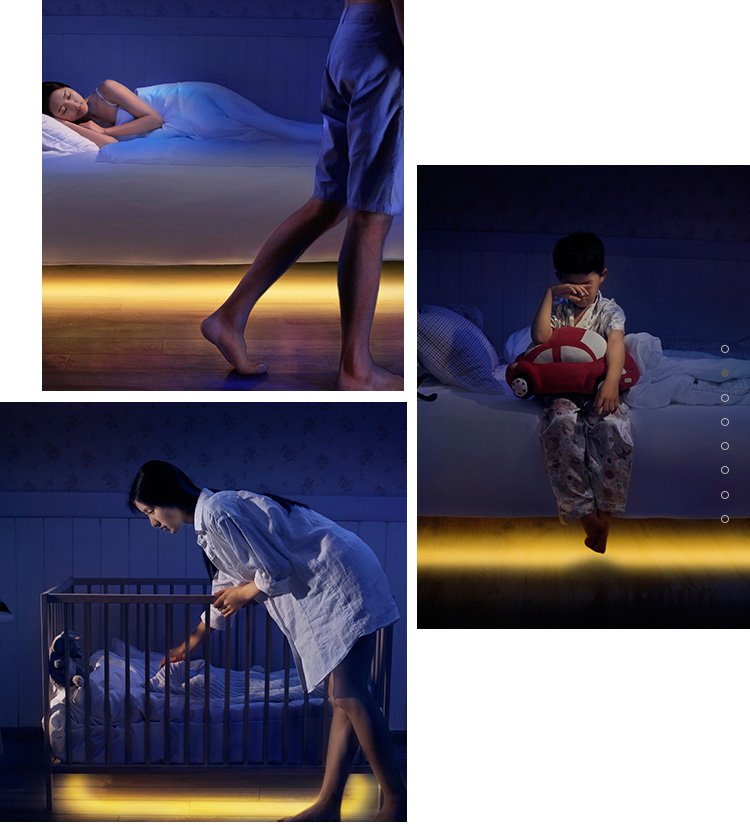 Kamar Anak Double Sensor LED Bed Light