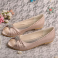 Wedopus Open Toe Nude Bridal Shoes Dijual