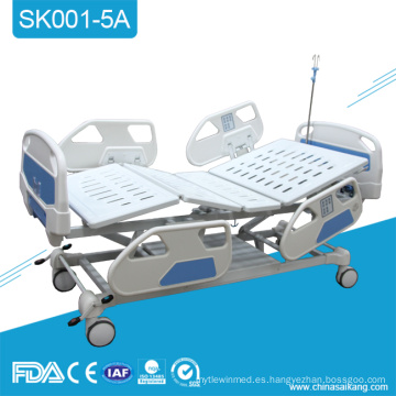SK001-5A Cama de hospital médica motorizada eléctrica plegable simple de Icu