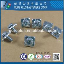 Fabriqué à Taiwan Haute qualité Pan Head POZI SLOT Combo Drive Machine SEMS Petite vis avec rondelle carrée