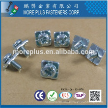 Feito em Taiwan Alta qualidade Pan Head POZI SLOT Combo Drive SEMS Machine Small Screw com Square Washer