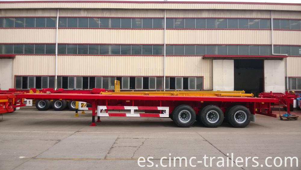 L 40 Tri Axle Flatbed Semi Trailer