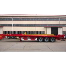 Hot sale reasonable price for CIMC Flatbed Trailer 40' 3-Axle Flatbed Semi-Trailer supply to Bulgaria Factory