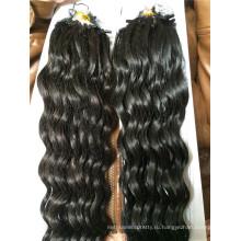 100% бразильского Виргинские человеческих волос микро кольца петли наращивание волос натуральных волос глубокая волна Оптовая цена
