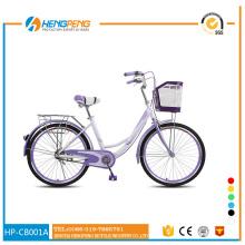 26 inch city road bike with PVC basket