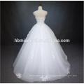 Prinzessin Pure White A Line bodenlangen Spitze Perlen trägerlosen Backless Brautkleid Braut mit Korsett zurück