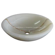 Роскошная раковина для ванной комнаты с умывальником из нефрита