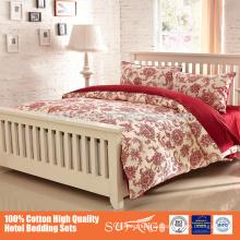 200TC-800TC Großhandelsmassenpreis für 5-teiliges klassisches Luxuxhaustextilien-Baumwollgewebe-Gewohnheit 100% bedruckte Bettwäsche