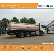 FOTON 6X4 stainless steel fuel tanker truck