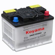 Bateria de carro carregada seca DIN45 da bateria ácida da bateria - 45ah 12V
