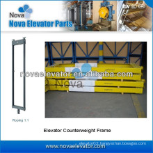 Lift Counterweight Frame, High quality Elevator Parts, Roping 1:1 & 2:1 Elevator Counterweight Frame