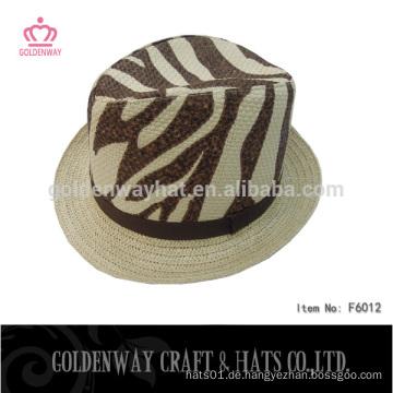 Gelbe leopard gangster fedora hüte