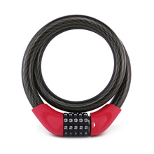 Yf21060 Anti-Theft Cable Lock 5-Dials for Motorcycle Bicycle