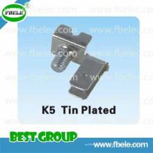Metallteile K5 Zinnbeschichtet / Klemmenblock / Durchgangsklemme
