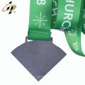 2018 hace la medalla de forma personalizada de la astilla de metal antiguo