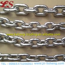 Cadena de enlace de acero galvanizado corto de hierro DIN766