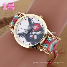 Neueste Armbanduhr mit Webband / Dame Armbanduhren für Frauen BWL024