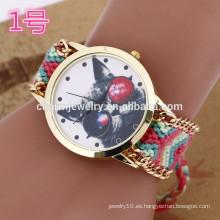 El último reloj de la pulsera con la venda de la armadura / los relojes de señora para las mujeres BWL024