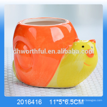 High quality ceramic snail mousse tray cup