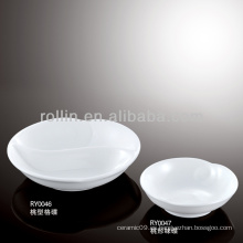 Horno de porcelana blanca duradera y durable plato condimento seguro