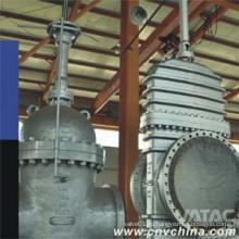 Зачищенная углеродистая сталь с фланцевым соединением через задвижку канала
