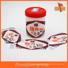 China vendor water proof heat sensitive printable customizable shrinkable hair oil bottle label with excellent printing