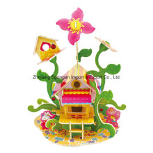 Wood Collectibles Toy for DIY Houses-Flower House