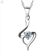 Moda 925 prata esterlina cz pingente de colar de jóias