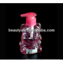 Garrafa de sabão líquido plástico de forma animal
