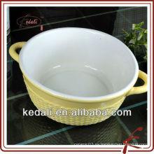 Forma redonda alimentos de cerámica para hornear
