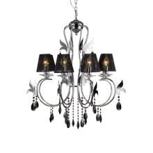 Nueva lámpara colgante cristalina moderna (80903-L6 con la cortina)
