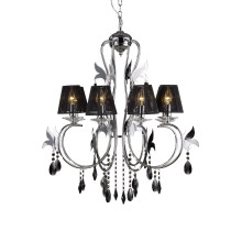 New Modern Crystal Chandelier Hanging Light (80903-L6 with shade)