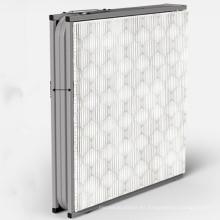 Cuna adicional extra alta de la tubería de acero del precio de la alta calidad con la cama plegable del ocioso de madera de los apoyabrazos
