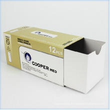 Boîte à emporter en papier carré ondulé personnalisé