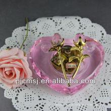 Mais novo Crystal Piano Music Box Para Souvenirs & Home Decorations & Gifts. Caixa de música de cristal com rosa
