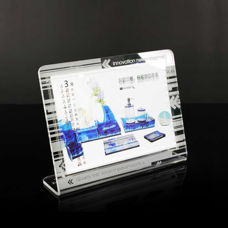Wholesale Custom Clear Acrylic Calendar Stand Holder