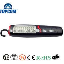 Plástico 30 + 7 LED luz de trabalho magnético