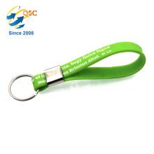 personalized custom bulk 100% silicone wristband key chain