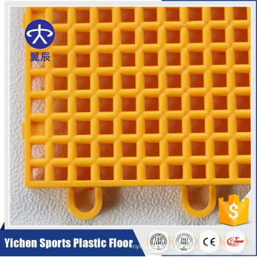 Outdoor Sports Floor PP Interlocking Tiles Basketball Flooring Mat