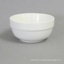 Venta al por mayor cerámica tazón blanco alto con buen precio