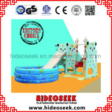 Bear Style Chilren Indoor Plasti Slide with Ball Pit