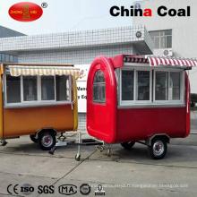 Fabriqué en Chine Mobile Food Chariot Remorque Vente