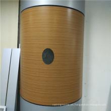 Panel de aluminio de nido de abeja de textura de madera para cubrir la columna