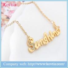 Hip Hop Schmuck Brief Anhänger Halskette Gold Kette Halskette Designs