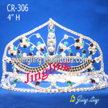 Custom Mask Rhinestone Princess Tiara For Pageant