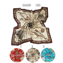 SA429 193 silk muslim square scarf100% silk hijab shawl and scarvessupplier alibaba china
