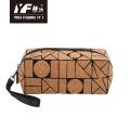 Geometrisches Modedesign Kork Make-up Tasche