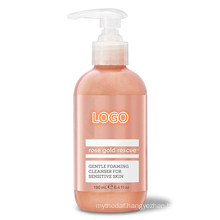 Private Label Rose Gold Soothing Cleanser Gentle Foaming Face Wash